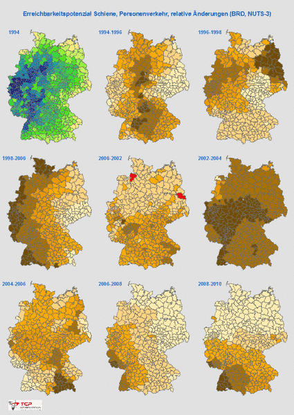 TCP International Transport Consulting Partners Accessibility - Germany nuts 3 map
